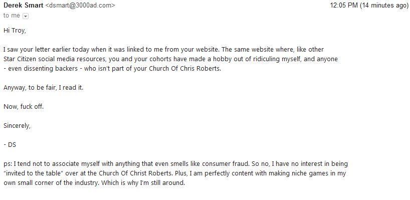 A response from Derek Smart (1)